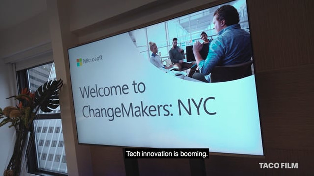 Highlights video for Microsoft ChangeMakers