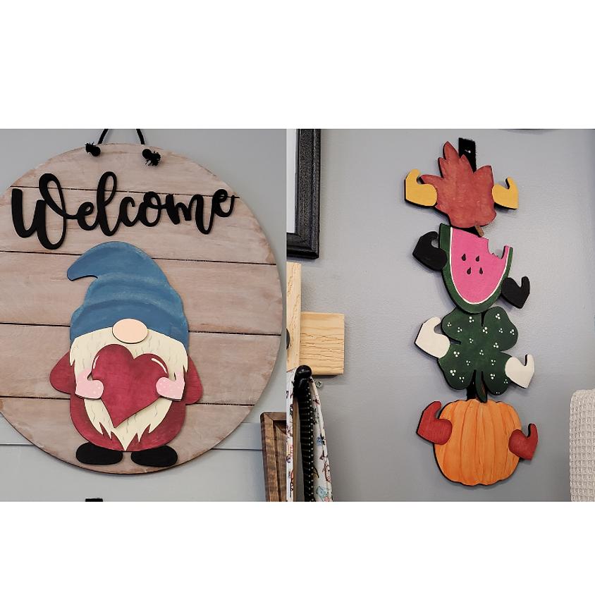 Gnome Interchangeable Door Wall Hanger Paint Class