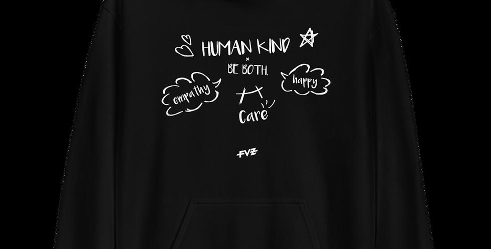Humankind Be Both. III Unisex Hoodie By FVZ