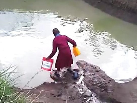 """""""Clean water saves lives and so can you! Water you waiting for?"""""""