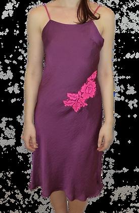 Luxe Lace silky satin Bias-Cut slip