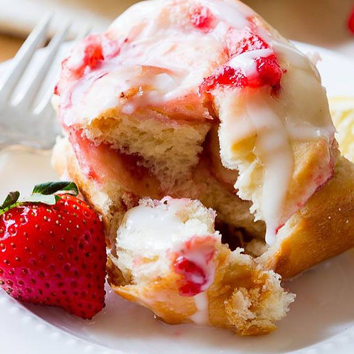 Strawberry Sweet Rolls w/ Cream Cheese frosting