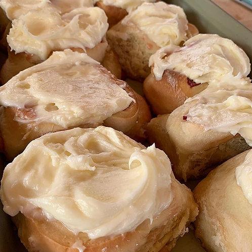 Cinnamon Rolls w/ cream cheese frosting