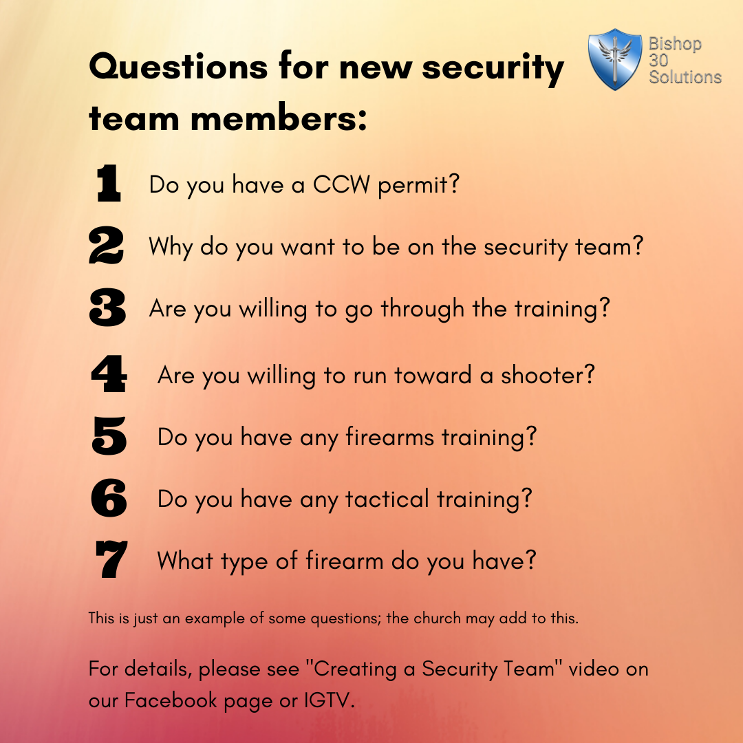 Questions for new security team members
