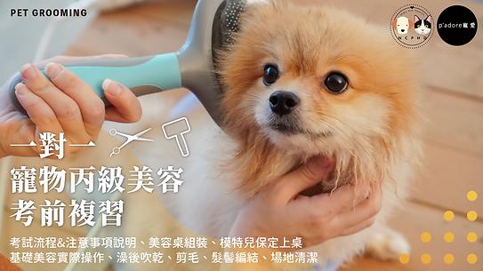 寵物美容一對一考前複習.png