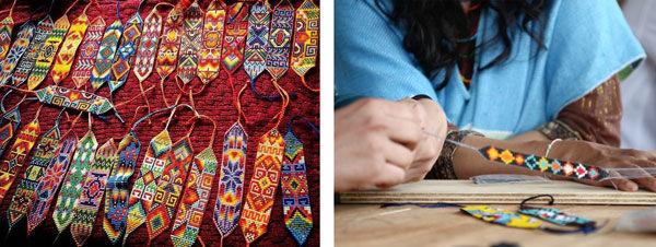 beadwork on loom