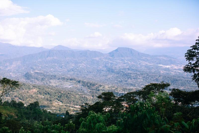 Mountain view over Fusagasuga