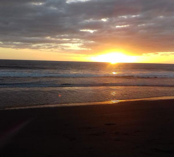 Sunset on Ostional Beach
