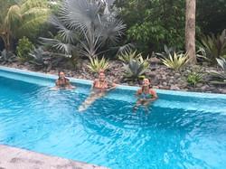 Happy Ladies in the Pool