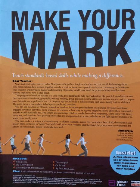 Malaria No More Poster & Teaching Guide