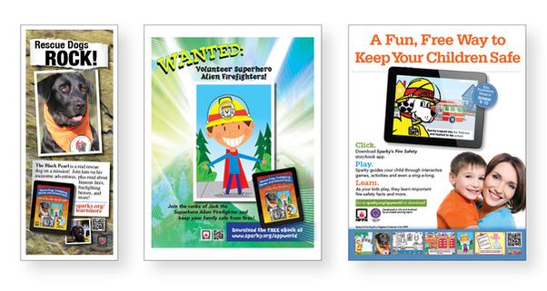 Fire Safety Print Ads