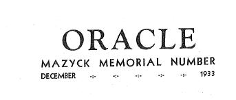 1933 Oracle