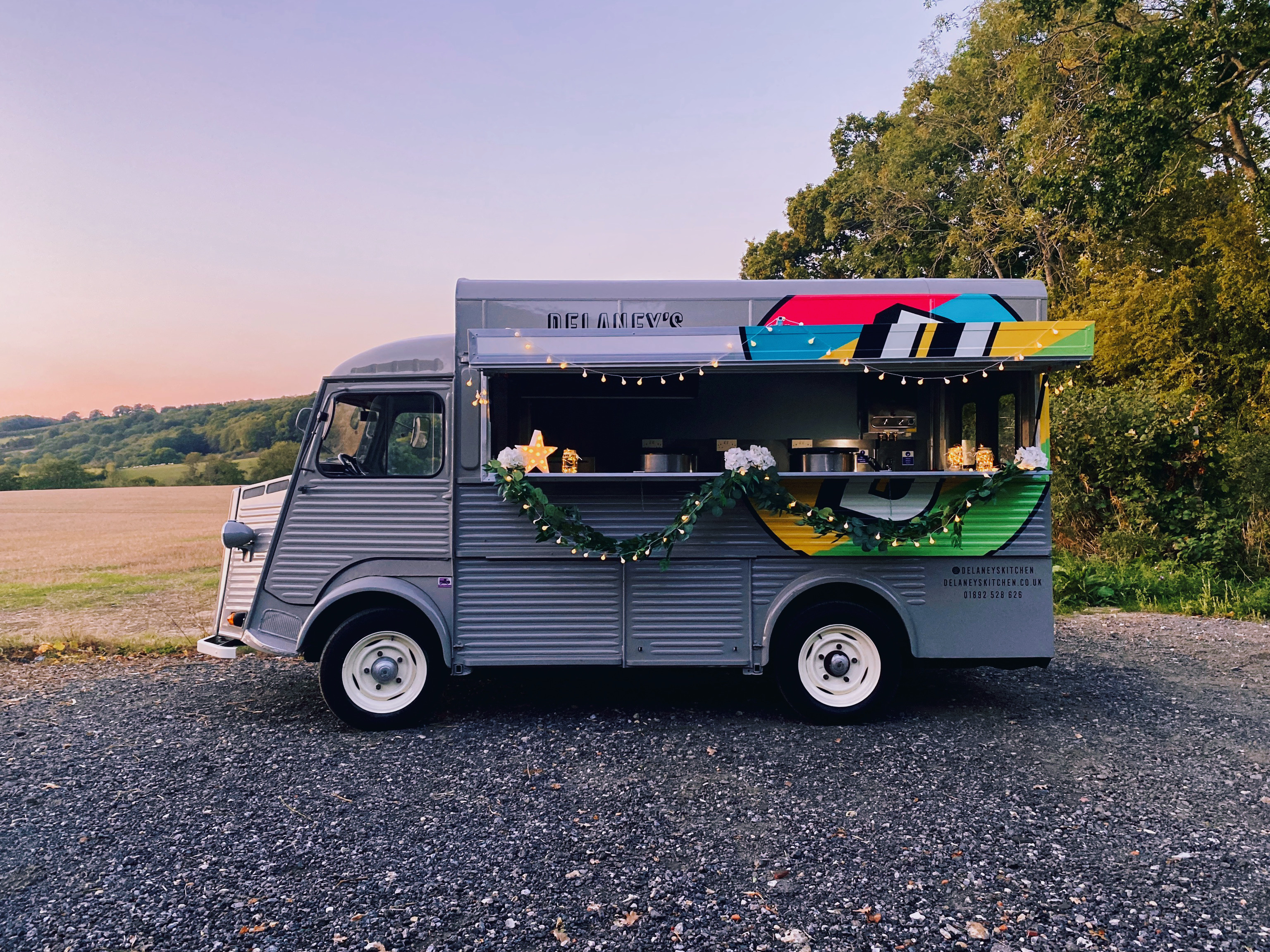 Delaneys wedding food truck sunset_HERO