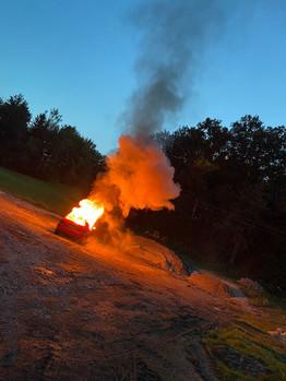 Einsatzübung: VU mit eingeklemmter Person und KFZ-Brand