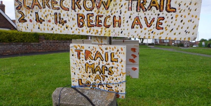 Scarecrows and chalk towers