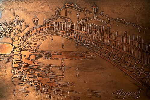 Ha'penny Bridge Bronze Etching