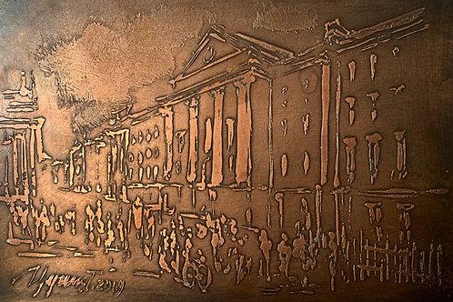 Trinity College Bronze Etching
