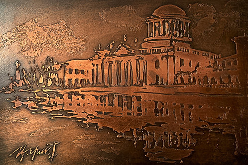 Four Courts Bronze Etching