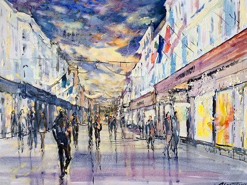 Grafton Street, Evening Sky