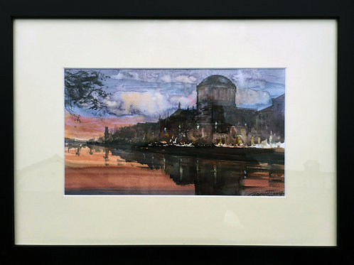 The Four Courts Watercolour