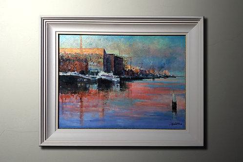 The Docklands, Dublin, Oil on Canvas
