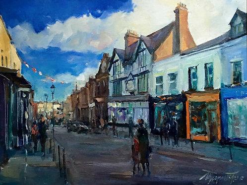 Dalkey Village, Dublin, Oil on Canvas