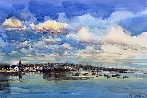 Malahide, Dublin, Watercolour