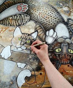 Artist Lynnette Shelley drawing