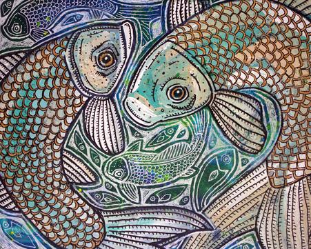Blue Fish Swirl