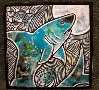 Leaping Shark