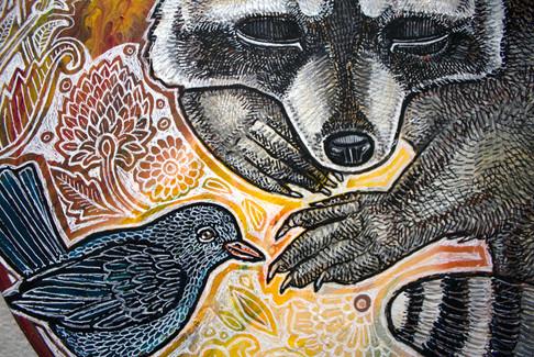 Dreaming Raccoon (detail)