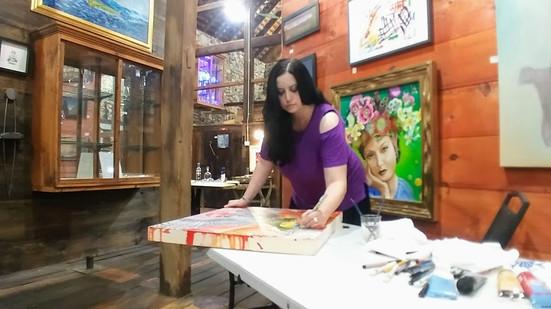 Art demo at Ivystone Studio, Downingtown, PA