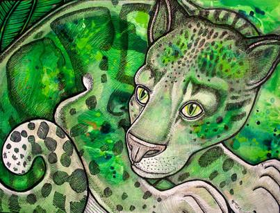 Crouching Leopard