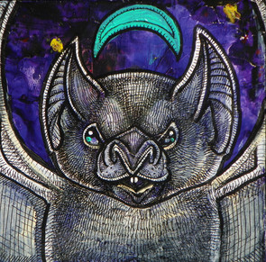 Bat and Blue Moon