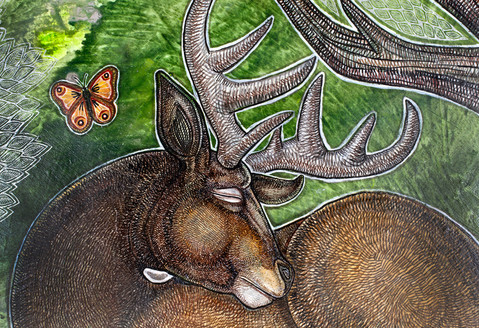 Sleeping Stag (Detail)