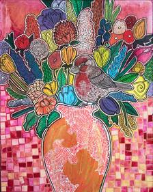 Blooming Rosefinch