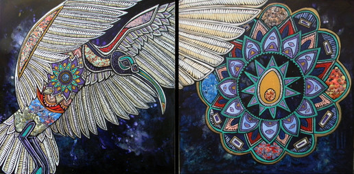 Sacred Ibis and the Cosmic Egg (Right Panel)