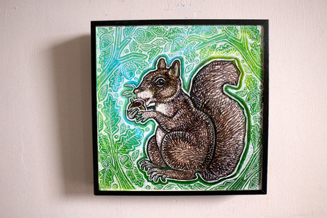 Squirrel and Acorn
