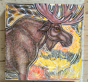 Standing Moose