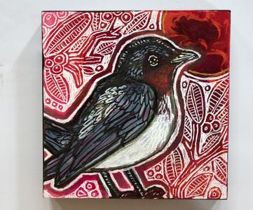 Miniature Swallow bird painting