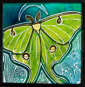 The Moth and the Moon (Luna Moth)