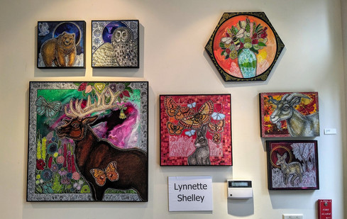 Lynnette Shelley's artwork at Borrelli's Chestnut Hill Gallery in Philadelphia