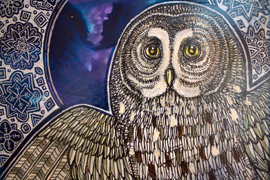 Winter Moon Owl