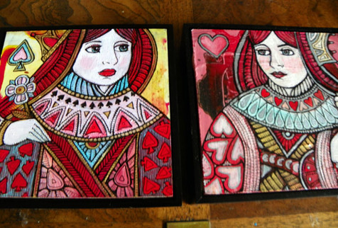 Queen of Spades and Queen of Hearts