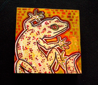 Gecko On Gold