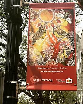 Rahway, NJ, art banners