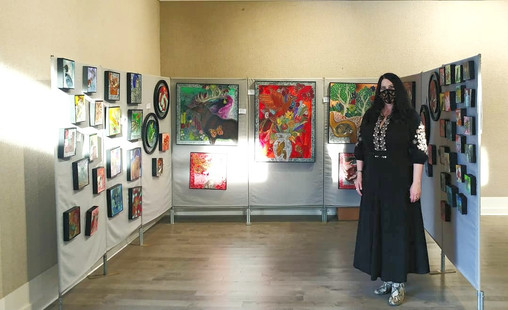"""Christkindlmrkt"" pop-up holiday indoor / outdoor art market at the Chester County Art Association, 100 North Bradford Ave., West Chester, Pennsylvania"