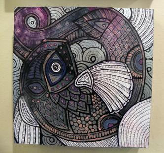 Purple Fish Swirl