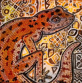 Gecko on Ornamental