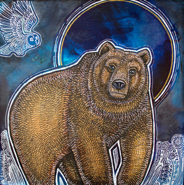 Bear and Blue Moon